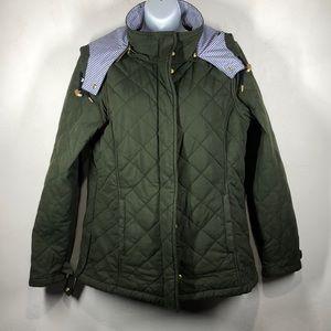 Vineyard Vines green quilted jacket size medium